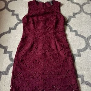 Forever 21 Burgundy Lace Dress